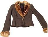 John Galliano Grey Wool Jacket for Women