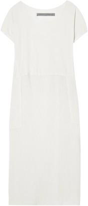 Raquel Allegra Jersey-paneled Cotton-gauze Midi Dress