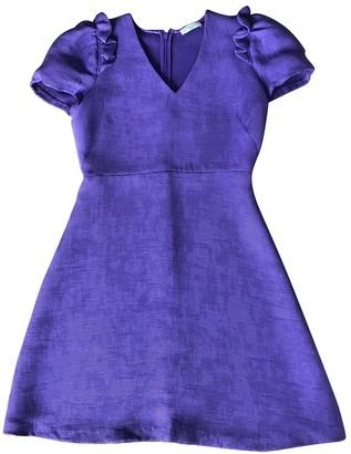 Sandro Spring Summer 2019 Purple Cotton Dresses