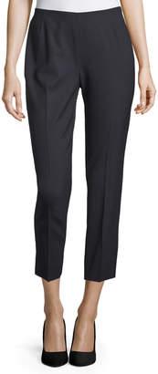 Lafayette 148 New York Wool-Blend Crop Pants, Navy