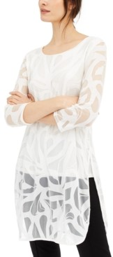 Alfani Lace Mesh Tunic, Created for Macy's