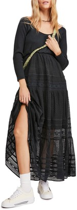 Free People Earth Angel Long Sleeve Maxi Dress