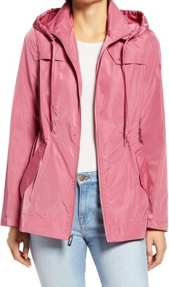 Via Spiga Water Repellent Packable Hooded Jacket