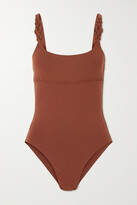 Thumbnail for your product : Eres Sahara Embellished Swimsuit - Brown