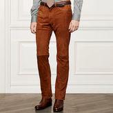 Ralph Lauren Purple Label Slim-Fit Suede 5-Pocket Pant