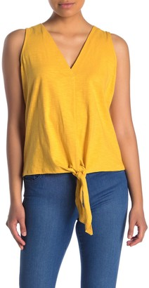 Lush Knotted Tie Hem Tank Top