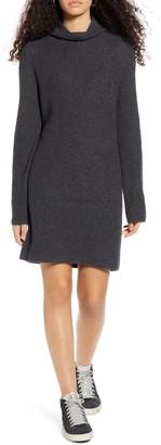 BP Mock Neck Long Sleeve Sweater Dress