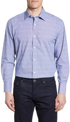 English Laundry Trim Fit Dot Dress Shirt