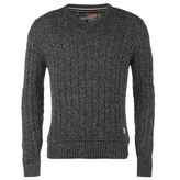 Soulcal Cable Knit V Neck Sweater