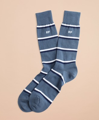 Brooks Brothers Double Stripe Crew Socks