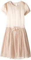 Stella McCartney Viva Silky Feel Dress with Tulle Skirt Girl's Dress