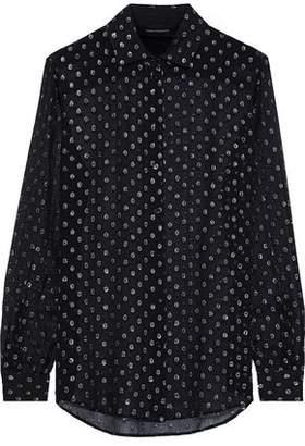 Robert Rodriguez Metallic Fil Coupe Silk-blend Georgette Shirt