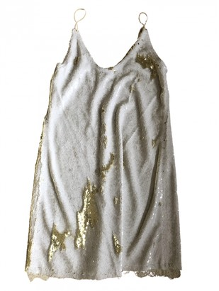 Free People White Glitter Dresses