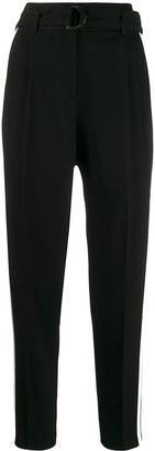 Akris Punto Side Stripe Tapered-Leg Trousers