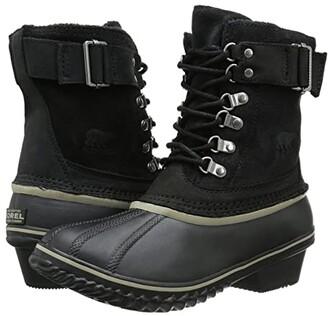 Sorel Winter Fancy Lace II (Black/Silver Sage) Women's Boots