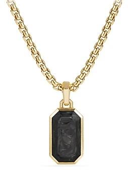 David Yurman Men's Forged Carbon Amulet with 18K Gold