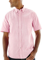 ST. JOHN'S BAY St. John's Bay Short-Sleeve Easy-Care Oxford Shirt