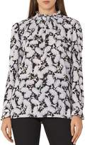 Reiss Botanical-Print Back-Button Top