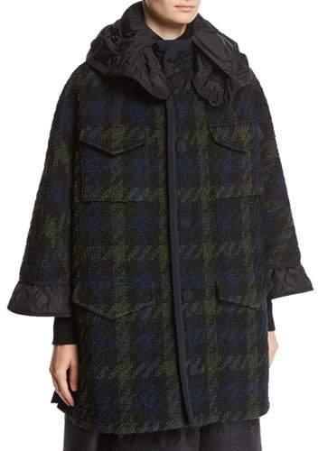 Moncler Euphrasie Oversized Houndstooth Coat