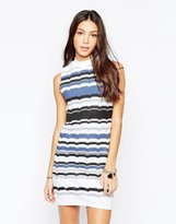 Your Eyes Lie Sleeveless Striped Body-Conscious Dress