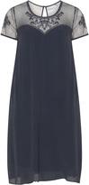 Junarose Plus Size Crochet lace crêpe dress
