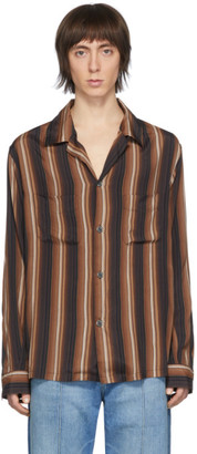 Our Legacy Brown Striped Heusen Shirt