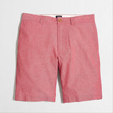 """J.Crew Factory 9"""" red chambray Gramercy short"""