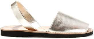 Minorquines Avarca Metal Leather Flat Sandals