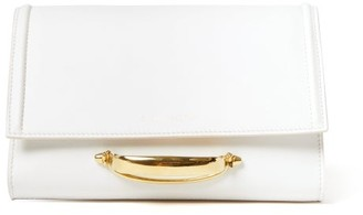 Alexander McQueen The Story Small Leather Clutch Bag - White