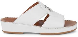 Bally Hakman Leather Slide Sandals