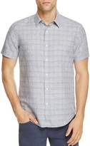 Theory Sylvain Dashed-Line Slim Fit Button-Down Shirt