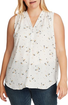 Vince Camuto Whimsical Petals Sleeveless Top