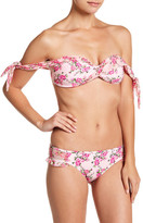 Betsey Johnson Floral Ruffle Bikini Bottom