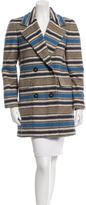 Yigal Azrouel Striped Wool Coat