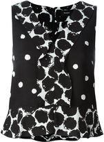 Proenza Schouler sleeveless polka dot blouse - women - Silk/Viscose - 2
