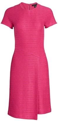 St. John Poppy Textured Asymmetric Knit Dress