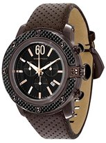 Glam Rock Men's GR33110 SoBe Chronograph Black Dial Brown Leather Watch