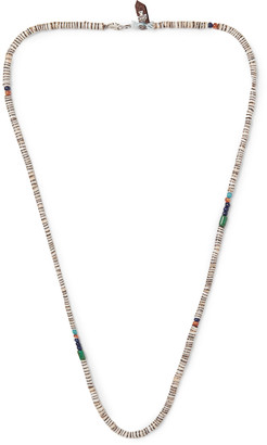 Peyote Bird Sterling Silver Multi-stone Necklace - Brown