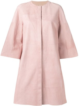 Drome suede panel coat