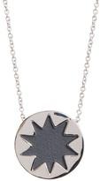 House Of Harlow Mini Sunburst Leather Pendant Necklace