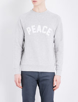 Sandro Peace-appliqué jersey sweatshirt