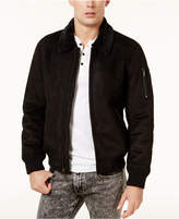 GUESS Men's Redmond Faux-Suede Bomber Jacket