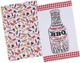 Design Imports BBQ Printed Cotton Dishtowels (Set of 2)