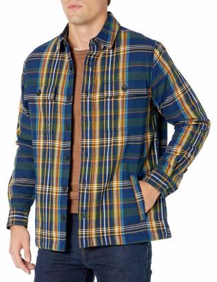 Goodthreads Amazon Brand Men's Sherpa Lined Long-Sleeve Flannel Shirt Jacket