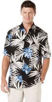 Cubavera Big & Tall Linen Short Sleeve Allover Floral Print