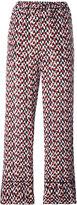 Marni printed palazzo pants - women - Silk - 40