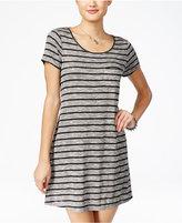 Fire Juniors' Striped A-Line T-Shirt Dress