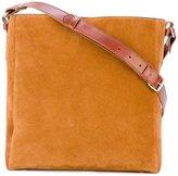 Lanvin large open shoulder bag - women - Calf Leather/Cotton - One Size