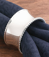 Noble Excellence Beaded Elegance Concave Metal Napkin Ring