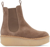 Flamingos Taupe Suede Deltona Ankle Boots
